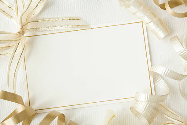 elegant invitation. - anniversary stock photos and pictures