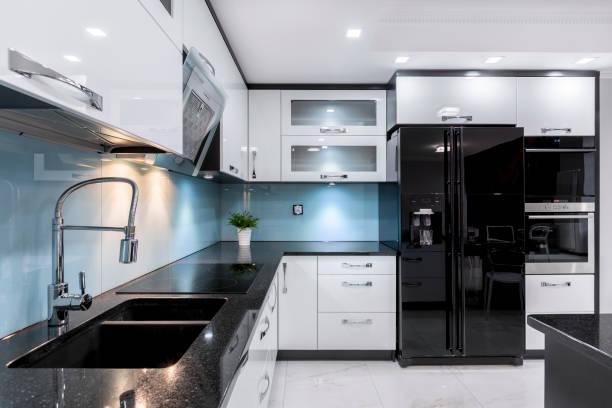 Elegant kitchen interior stock photo