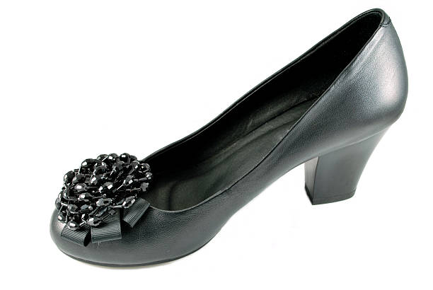 elegant leather shoe stock photo