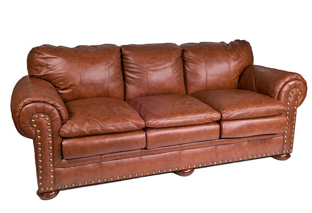 elegante leder-sofa - diy leder stock-fotos und bilder