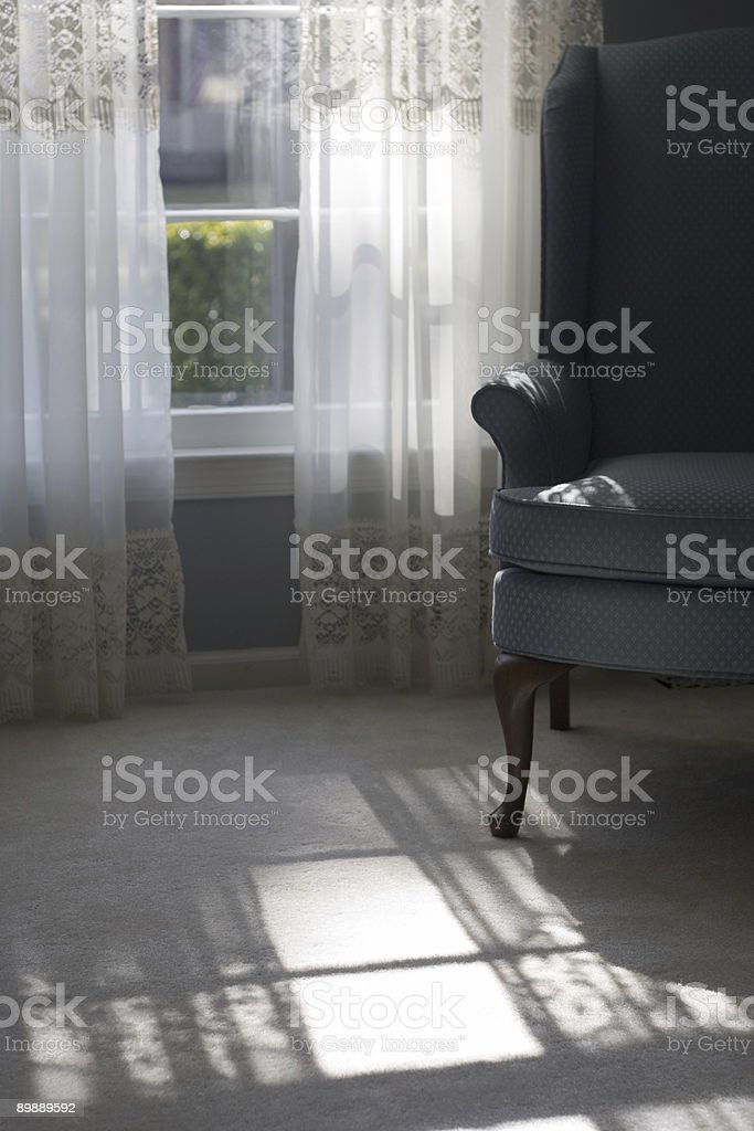 elegant living room with sunlight royalty-free stock photo