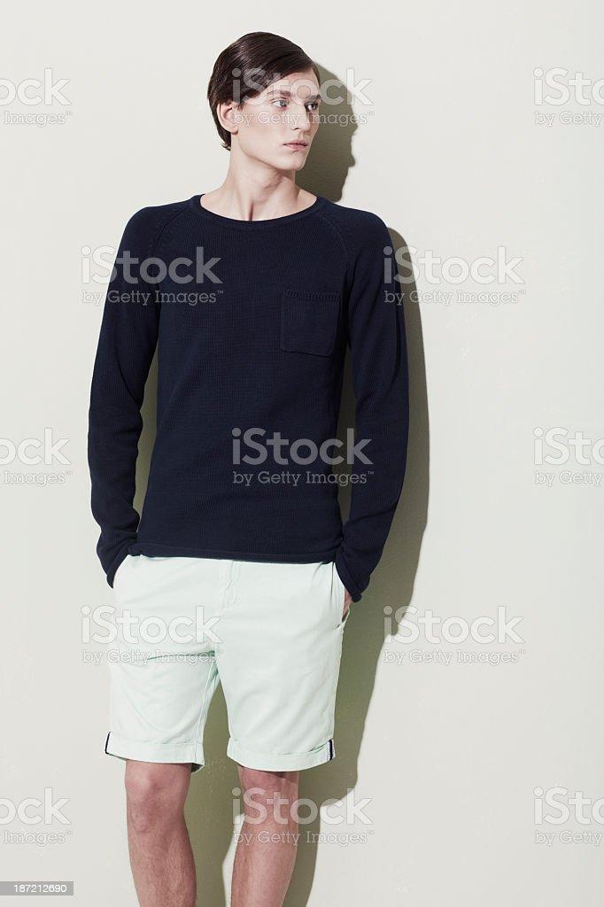 Elegant male features stock photo