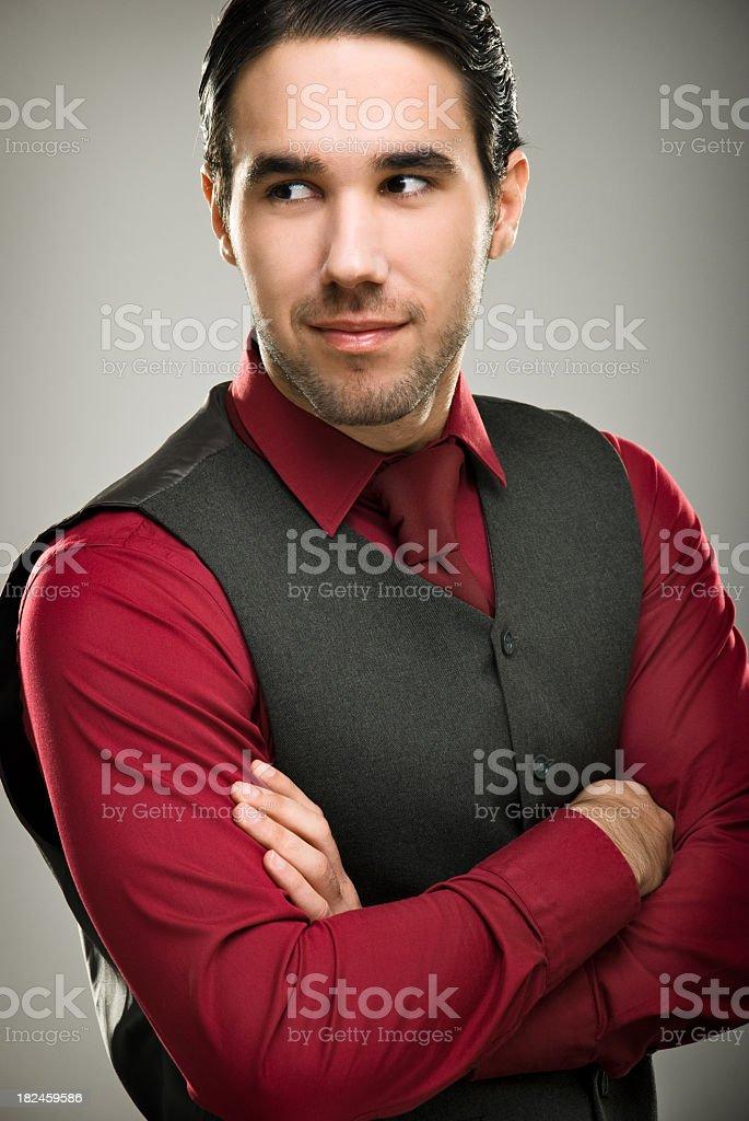 Elegante hombre foto de stock libre de derechos