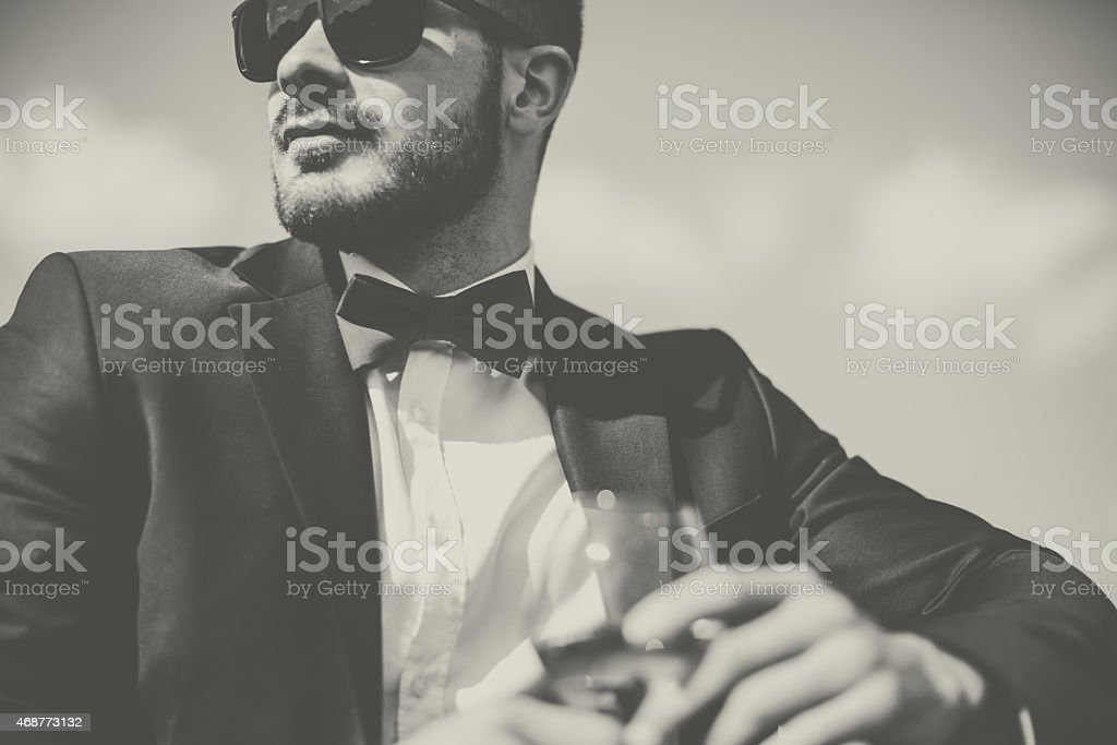 Elegant man stock photo