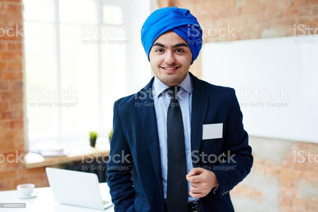 Elegant manager stock photo