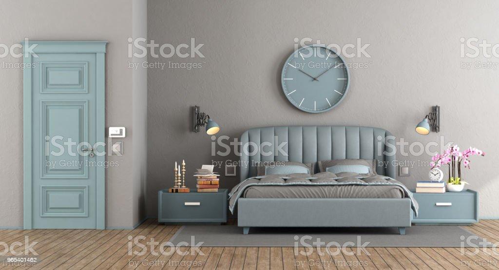 Elegant master bedroom royalty-free stock photo