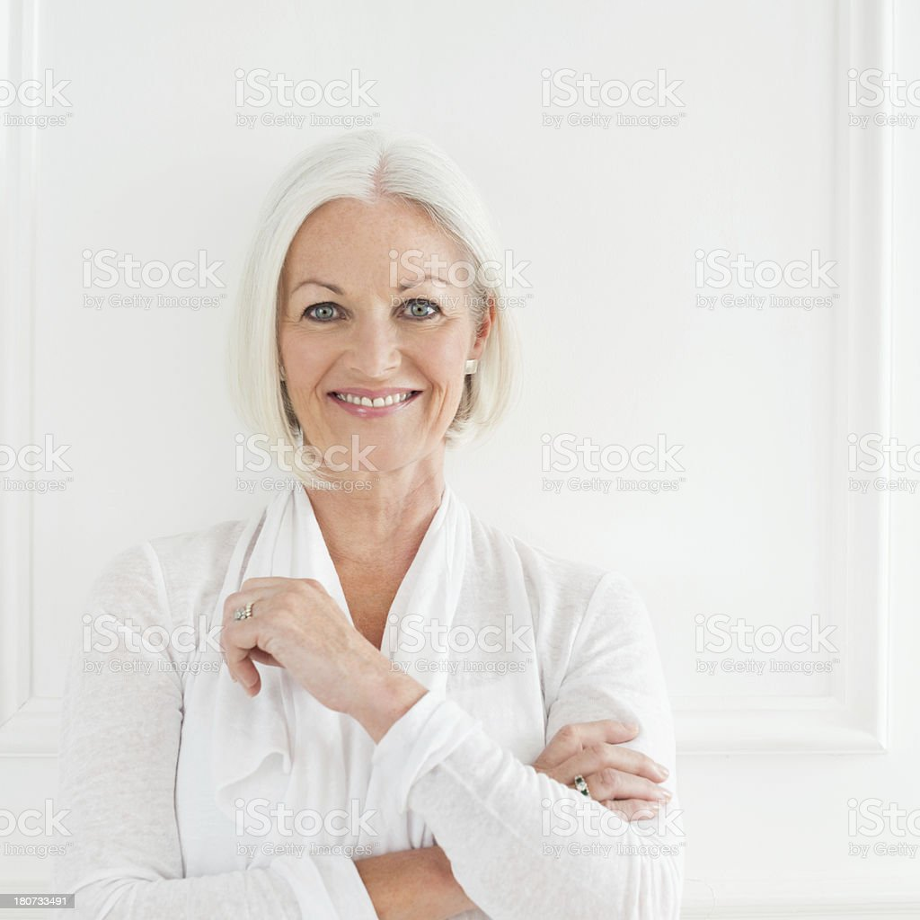 Elegant Mature Woman Portrait stock photo