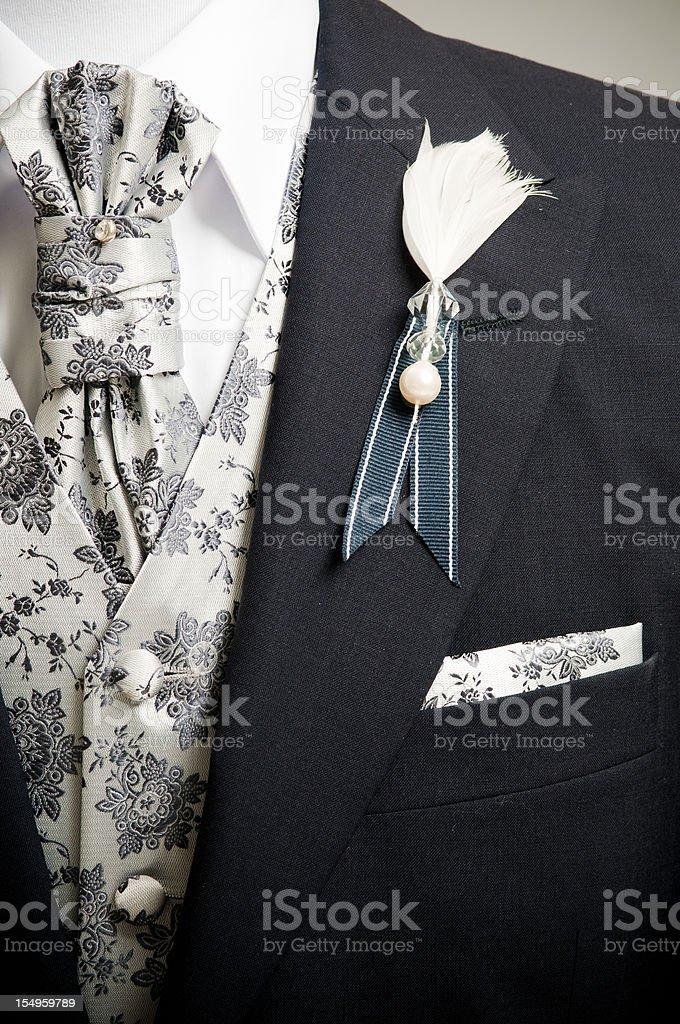 Elegant mens suit royalty-free stock photo