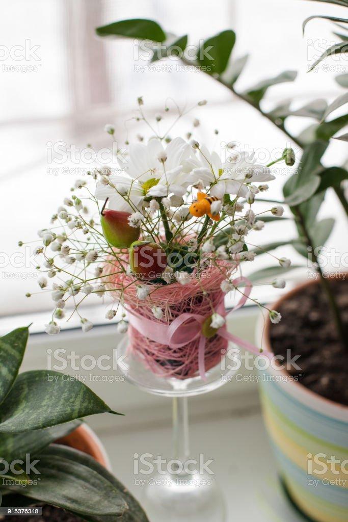 Arreglo Floral Elegante Miniatura Entre Colores Hogar Foto