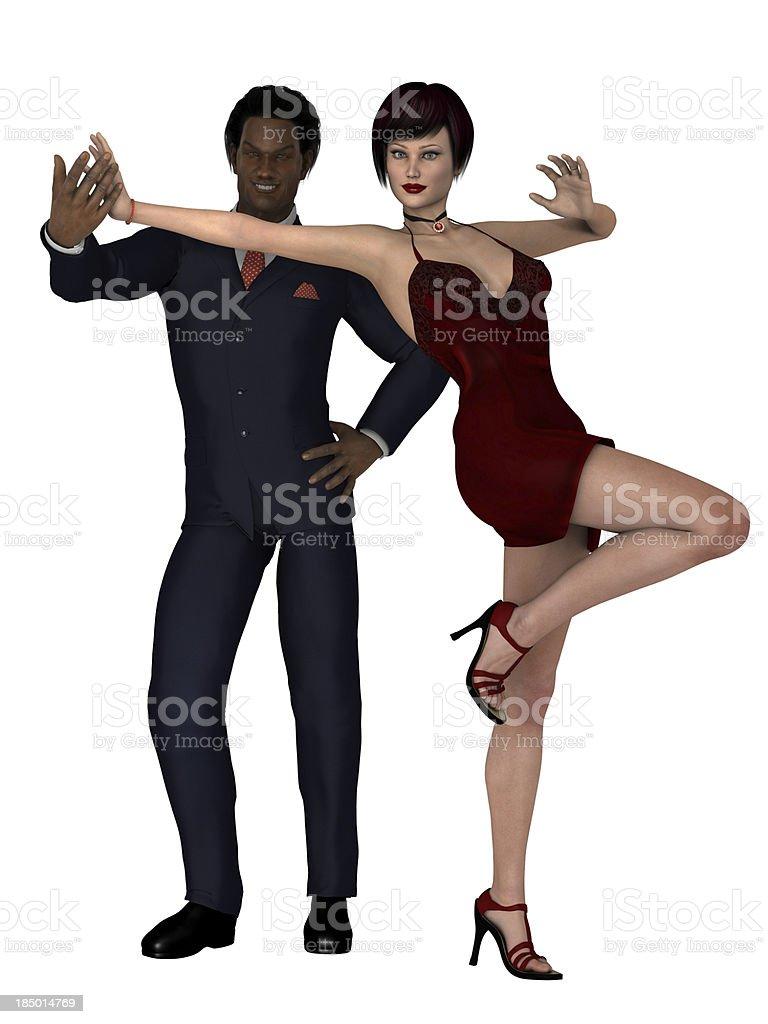 Elegant mixed race couple royalty-free stock photo