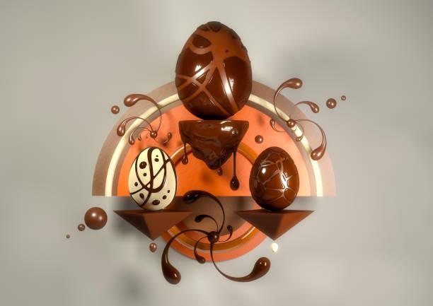 elegante moderne eier - schöne osterbilder stock-fotos und bilder