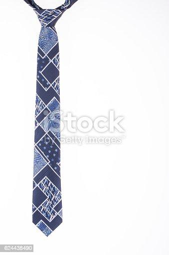 silk tie on a white background closeup