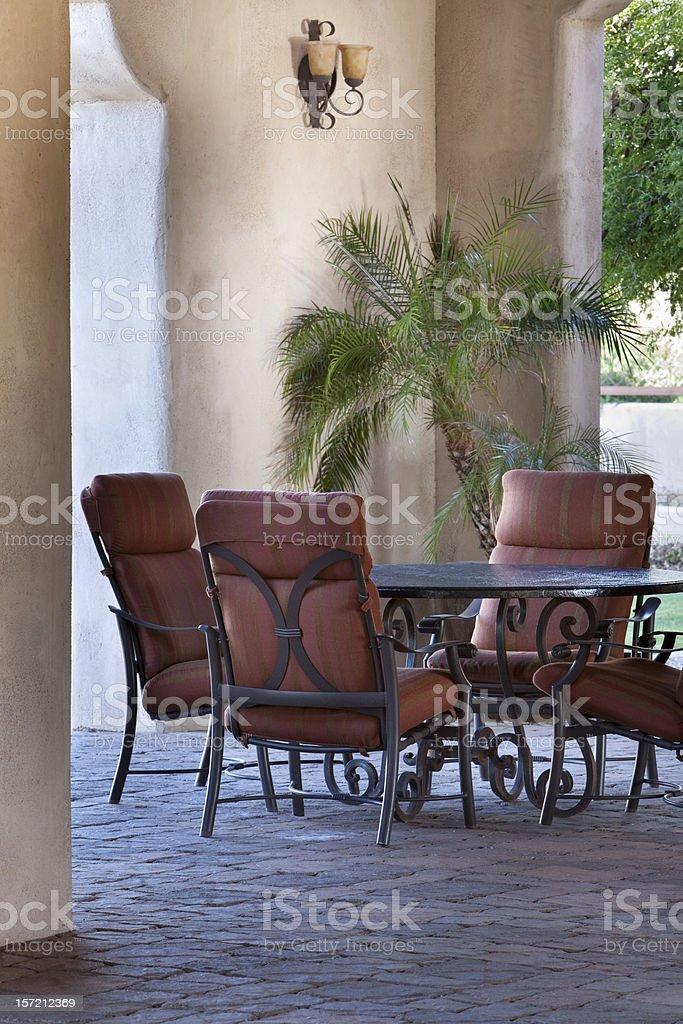 Elegant Outdoor Dining royalty-free stock photo