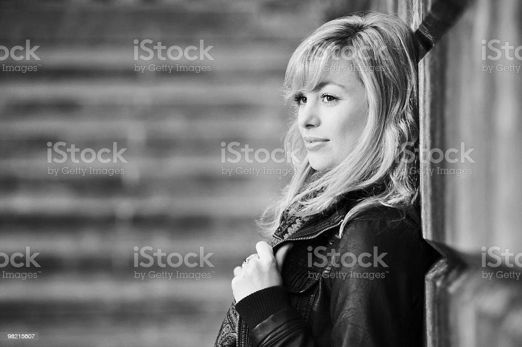 Elegant Outdoor Fashion Portrait royalty-free stock photo
