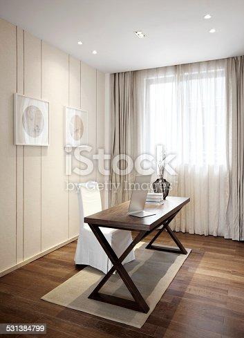 1147023758 istock photo Elegant parlor interior 531384799