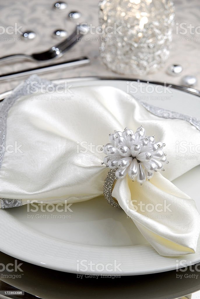 Elegant Place Setting royalty-free stock photo
