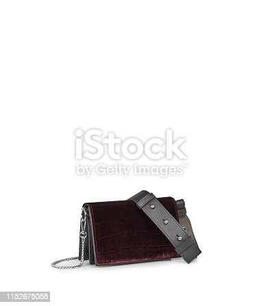 Elegant plain Red wallet for women's with white background