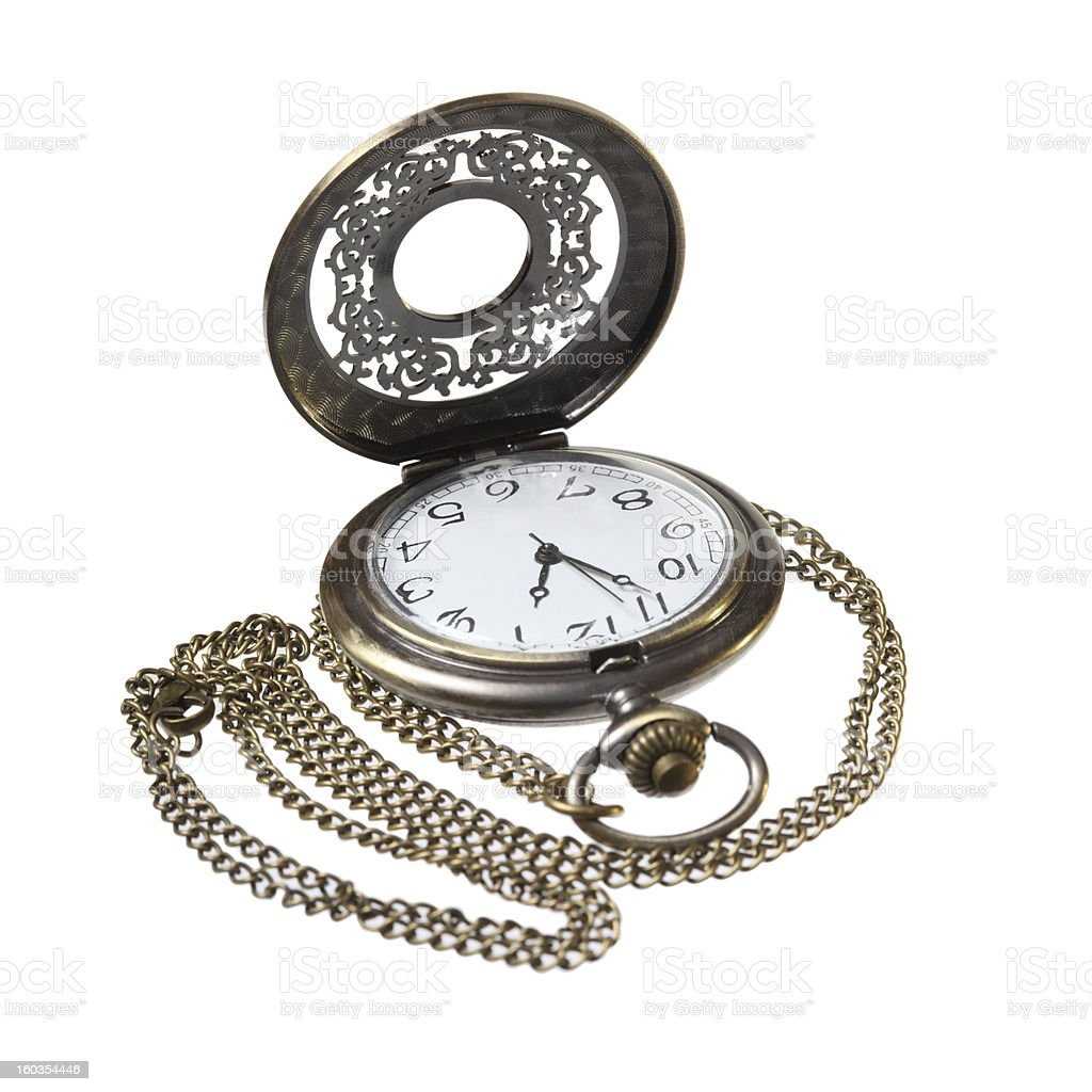 elegant pocket watch with open lid royalty-free stock photo