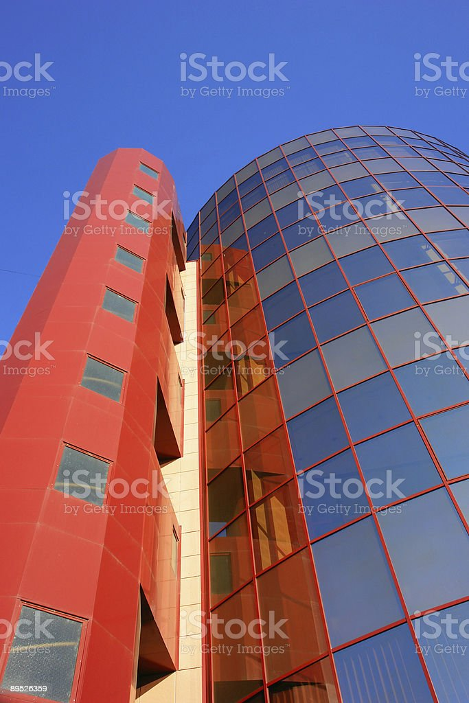Elegant red and blue tower royalty-free stock photo