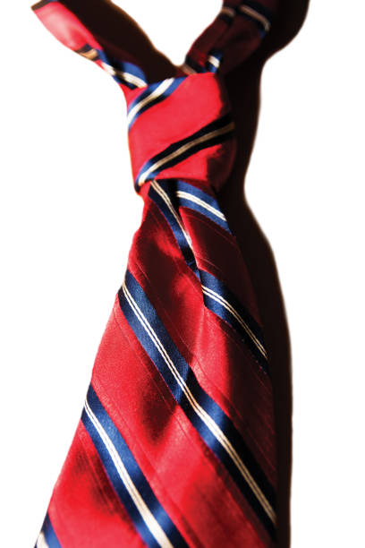Elegant red necktie for the male wardrobe stock photo