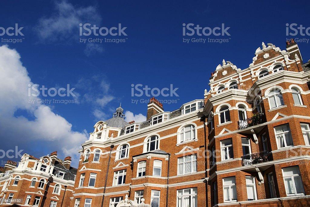 Elegant Red-Brick House at London. stock photo