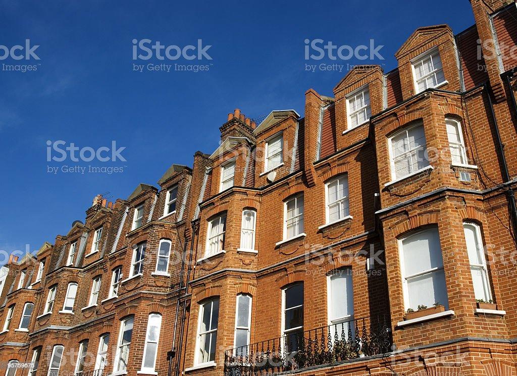 Elegant Red-Brick House at London. royalty-free stock photo