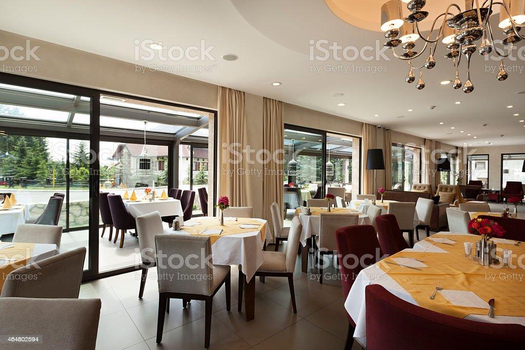 Elegant restaurant interior stock photo