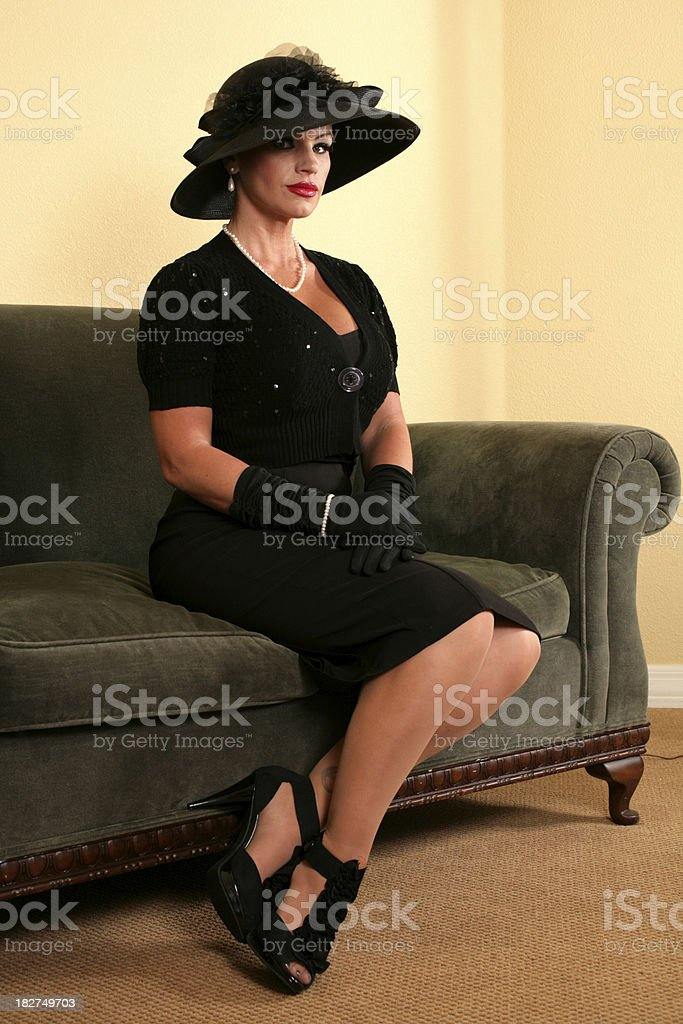 Elegant Retro Glamour stock photo