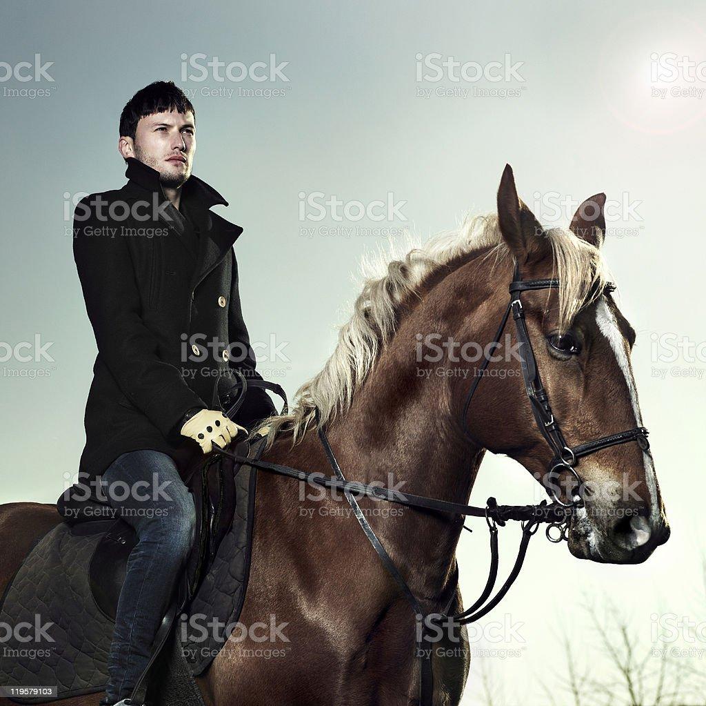 Elegant rider stock photo
