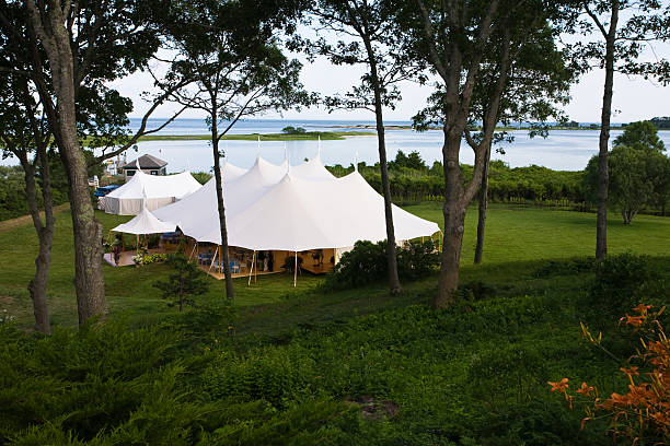 Elegant Seaside Event stock photo