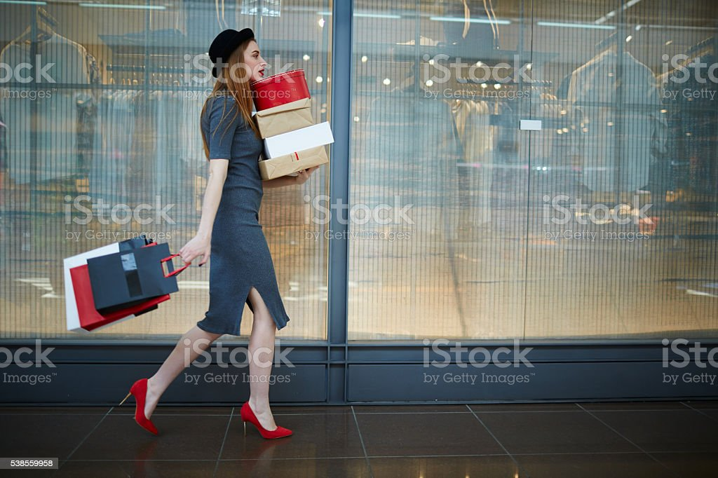 Elegant shopper stock photo