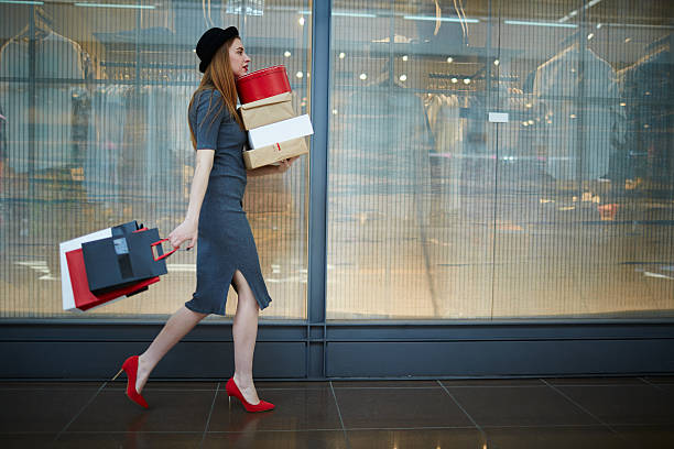 Elegant shopper stock photo