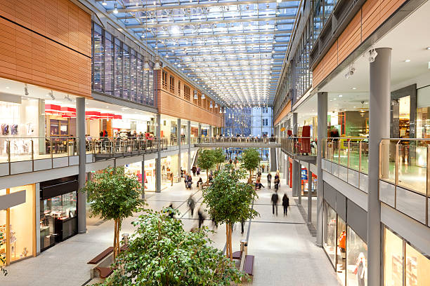 elegant shopping mall - shopping mall stock photos and pictures