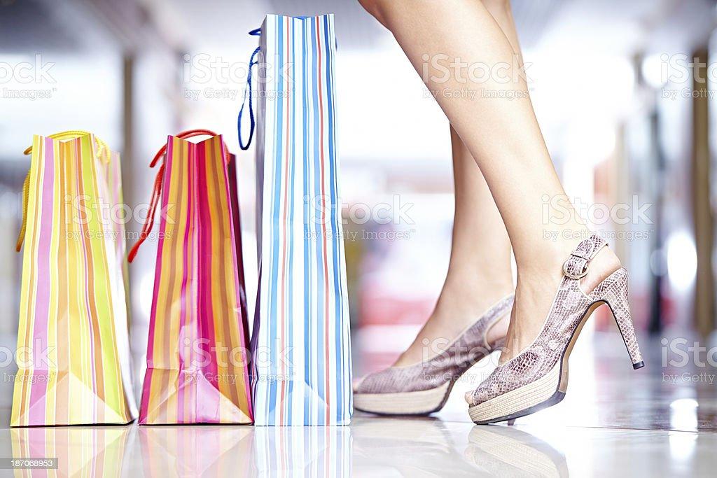 Elegant shopping royalty-free stock photo
