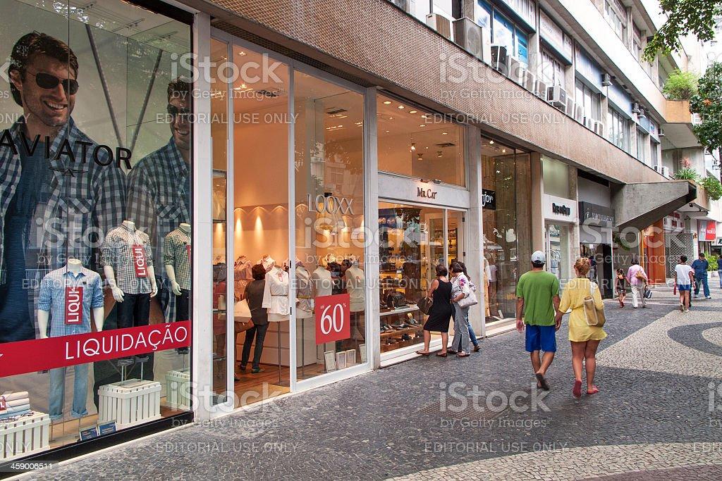 Elegant shops in Leblon district royalty-free stock photo