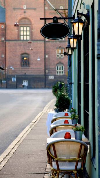 Elegant Sidewalk Cafe stock photo