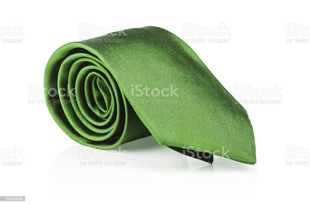 Elegant silk male tie ( necktie ) on white royalty-free stock photo
