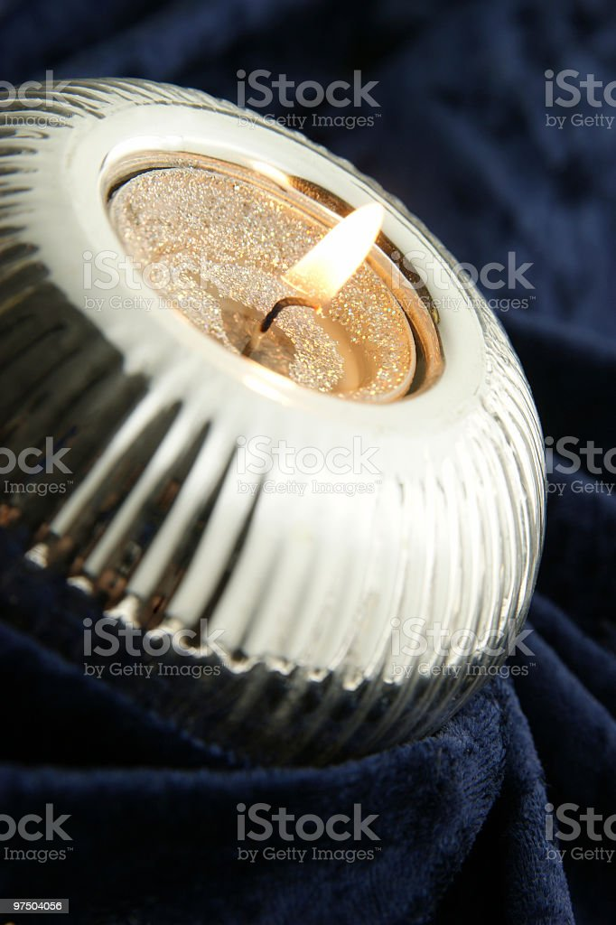 Elegant Silver Candle royalty-free stock photo