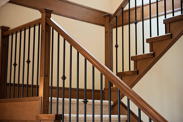 Elegant Stair Railings stock photo