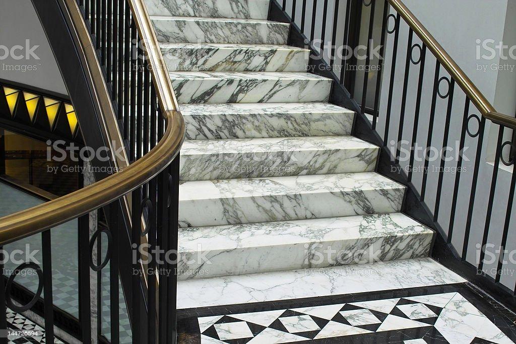 Elegant stairway royalty-free stock photo