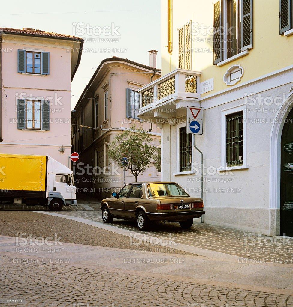 Elegant street scene in Monza, Brianza, Italy royalty-free stock photo