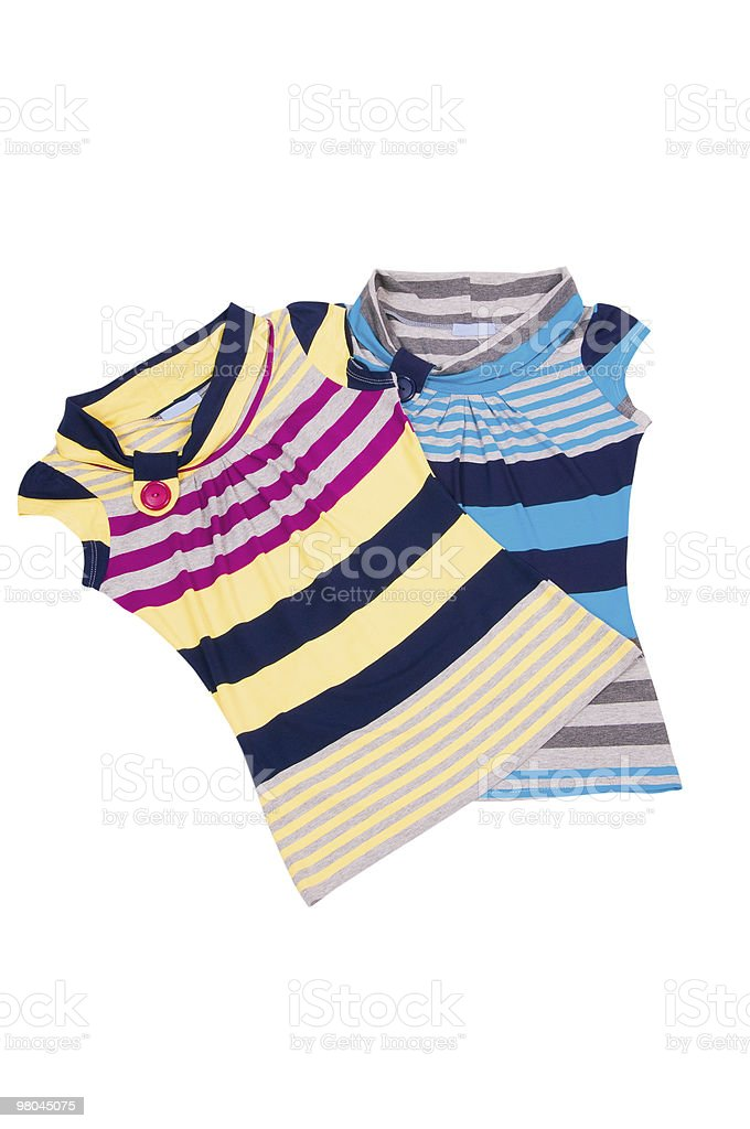 Elegant striped vests on the white. royalty-free stock photo