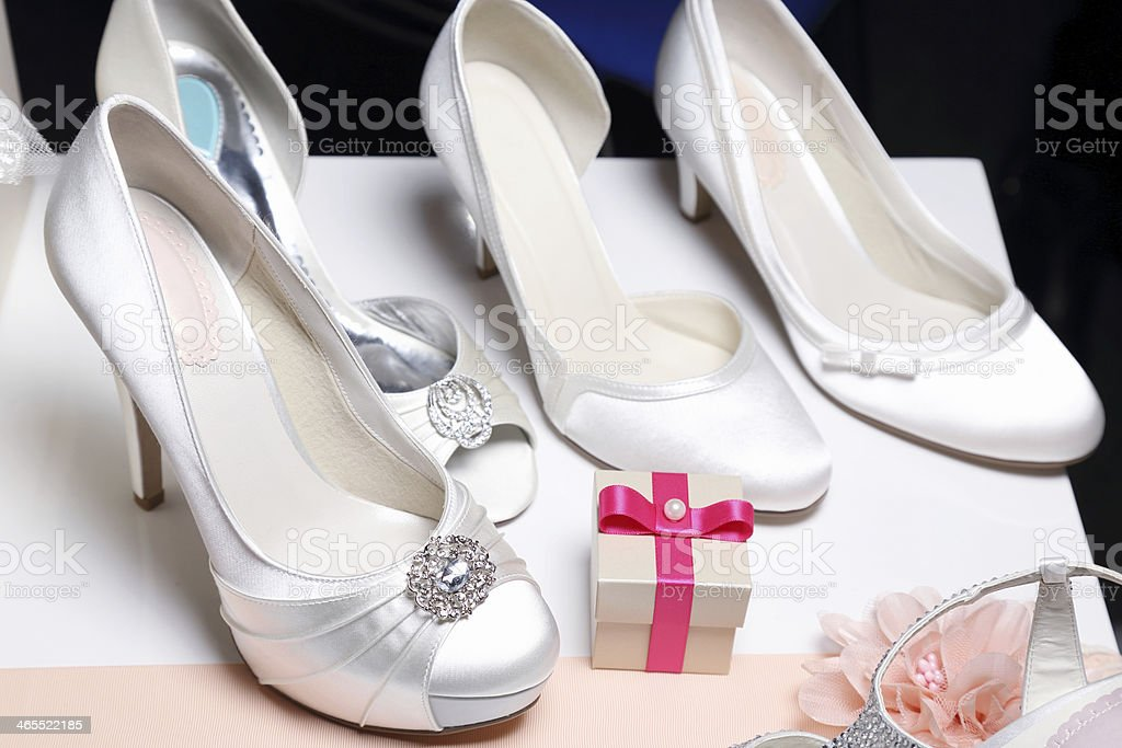 Elegant & Stylish Bridal Shoes royalty-free stock photo