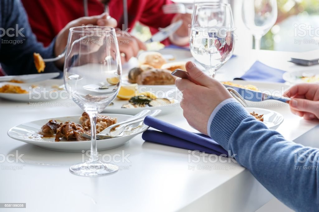 Elegant table set stock photo