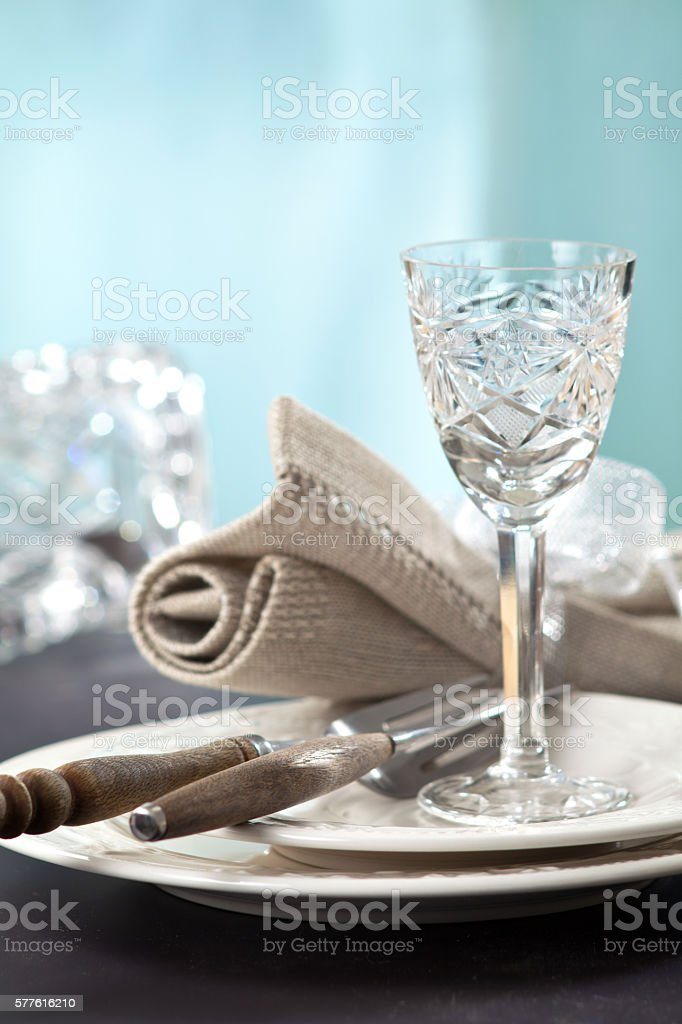 elegant table setting stock photo