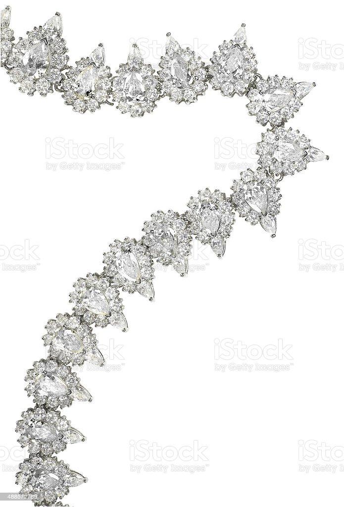 Elegant Teardrop Diamond Necklace stock photo