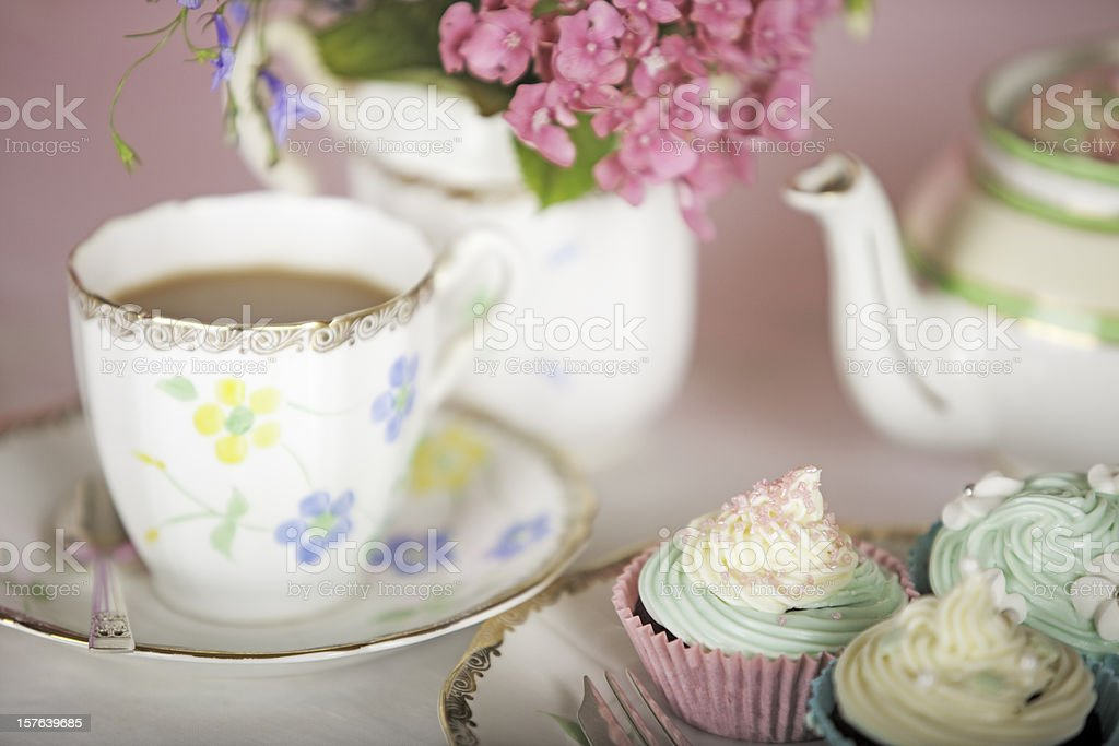 Elegant Teatime stock photo