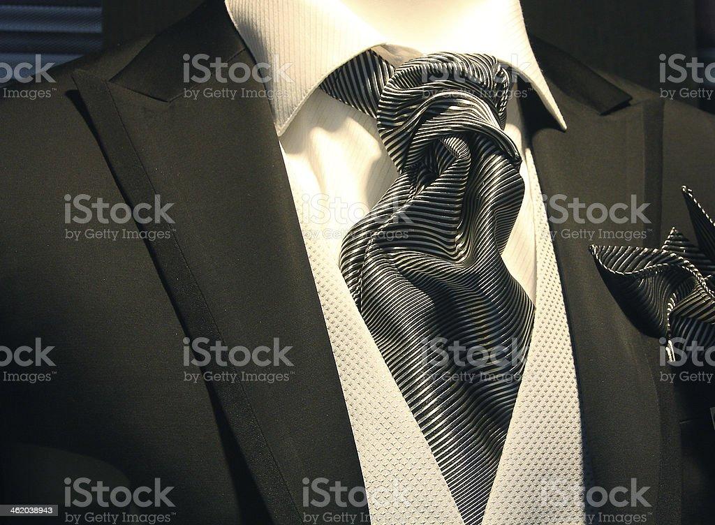 elegant tuxedo with a nice bright tie stock photo