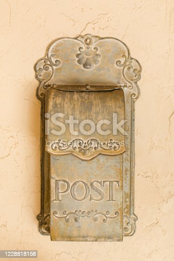 An Elegant light green Vintage Mail Box or Post Box.