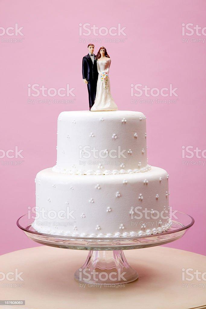 Elegante bolo de casamento - foto de acervo